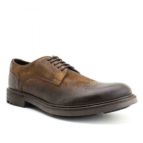 Base London azoto da uomo derby scarpe Greasy Suede Tan, marrone (Brown), 43 EU