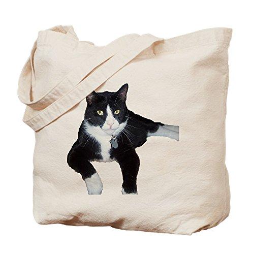 CafePress–Tuxedo Katze–Leinwand Natur Tasche, Reinigungstuch Einkaufstasche Tote S khaki