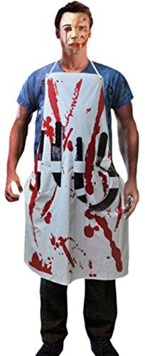 Karnevalsbud - Herren - Erwachsene Blutige Schürze mit 4 Messern Kostüm , S-XXL, (Halloween Evil Kostüme 4 Resident)