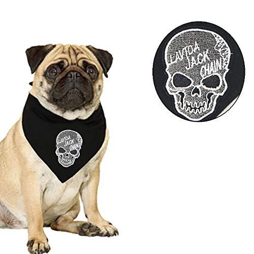 NACOCO Pet 's Fashion Skull Bandana, Hunde/Katzen verstellbar Skull Candy Halsband, Dreieckige Lätzchen/Halstuch für Cat Medium/Large Hunde, Skull in Schwarz (Cat Head Kostüm Muster)