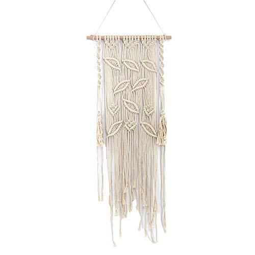 Maoran 1X Tapiz Tapicería de algodón Bohemio Atrapasueños con Flecos Inicio artesanía decoración Colgante de Pared joyería Creativa Borla decoración de la Boda Colgante 45 * 110cm
