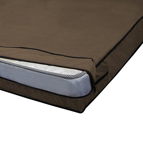 Glassiano Waterproof Double Bed Size (WxLXH in inches : 36X72X5) Zipper Mattress Cover Set of 2 Image 3