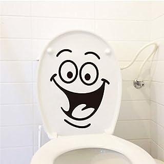 Lustiger Aufkleber für Toilettendeckel mit lachendem Smiley. Sticker mit Transparentem Hintergrund für WC Oder Andere Helle Untergründe #21