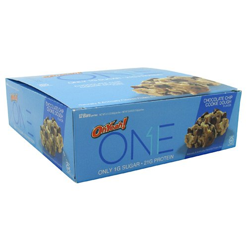 OhYeah! ONE BAR Protein Eiweiß Riegel, 12 x 60g, Geschmack:Chocolate Chip Cookie Dough (Vitamin E 1 000)