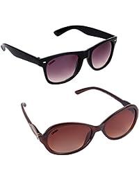 Criba Anti-Reflective Butterfly Unisex Sunglasses - (KCGRYLADBN|50|Black Color)