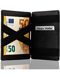 West - Magic Wallet - Das ORIGINAL - Geldbeutel mit Münzfach - Datenschutz Dank RFID - inklusive Edler Geschenkbox - Der perfekte Begleiter für unterwegs (Schwarz) …