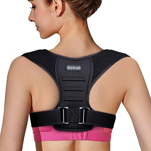 Geradehalter zur Haltungskorrektur, Beikell Haltungskorrektur Rückenstütze Verstellbarer Haltungstrainer, ideal zur Therapie für Rücken und Schulterschmerzen für Damen und Herren