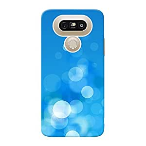 INKIF Circles Abstarct Designer Case Printed Mobile Back Cover for LG G5 (Blue )