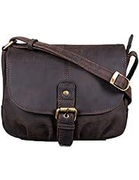 6850ce483a4cf STILORD  Iris  Leder Handtasche Damen klein Vintage Umhängetasche zum Ausgehen  Klassische Abendtasche Partytasche Freizeittasche