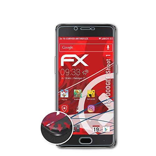 atFolix Schutzfolie passend für DOOGEE Shoot 1 Folie, entspiegelnde & Flexible FX Bildschirmschutzfolie (3X)