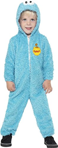 Boys film & TV ufficiale costume da Sesame Street Cookie Monster blu Blue 3-4 Anni