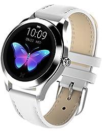 LH-Reloj inteligente:Reloj de Pulsera de Mujer Reloj de Pantalla Redonda Reloj Inteligente