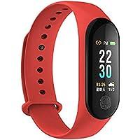 Sea To Sky M3 Plus IP67 Waterproof Blood Pressure Sleep Heart Rate Wristband Pedometer Fitness Band (Red)