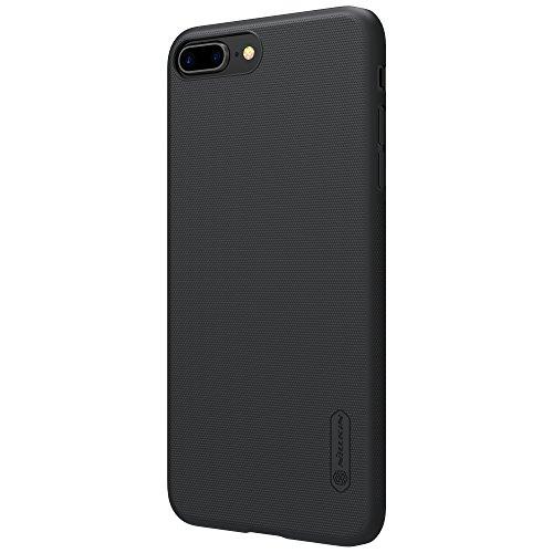 Meimeiwu Super-Frosted Tasche Qualitativ hochwertiges Back Cover Schutzhülle mit Displayschutz für iPhone 8 Plus - Schwarz Schwarz