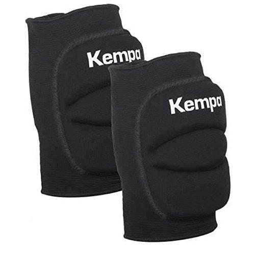 Kempa Handball & Volleyball Knieschoner Indoor Protektor gepolstert (Paar) schwarz für Kinder und Erwachsene (L = Knieumfang 38-43 cm)