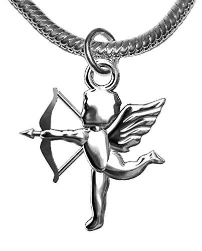 Argento massiccio 925amore Cupido ciondolo charm adatto a braccialetti o collane di marca DA20P - Cupido Amore Charm