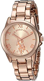 U.S. Polo Assn. Womens Quartz Watch, Analog Display And Stainless Steel Strap - USC40136