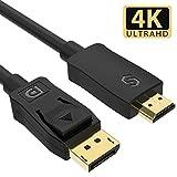 Syncwire Cavo DisplayPort a HDMI - Cavo High Speed 4K Ultra HD DisplayPort a HDMI Connettore Supporto Audio Video per HDTV, Monitor, Proiettore, Desktop, AMD, NVIDIA e Altro Ancora- Nero, 2m