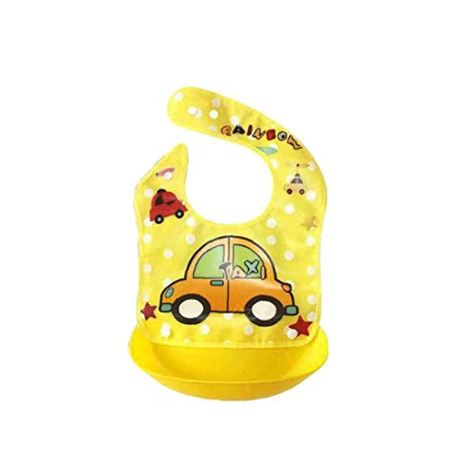 Abnehmbare Babylätzchen Silikon Wasserdicht Schürzen Baby-Nette Karikatur Lätzchen Bandana Feeding Reis-Lätzchen Baby Essen Saliva Handtuch