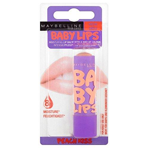 Maybelline Baby-Lippen Lip Balm - Peach Kuss - Packung mit 6