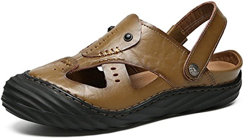 LEDLFIE Sandalen Casual Sandalen Fashion Beach Schuhe Khaki 44LEDLFIE Sandalen Casual Fashion Khaki 44 Billig und erschwinglich Im Verkauf