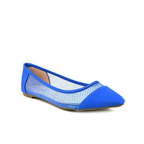 Scarpe Abene Fishnet Blu Blu Ballerina Cendriyon Donna 1qpw4InE