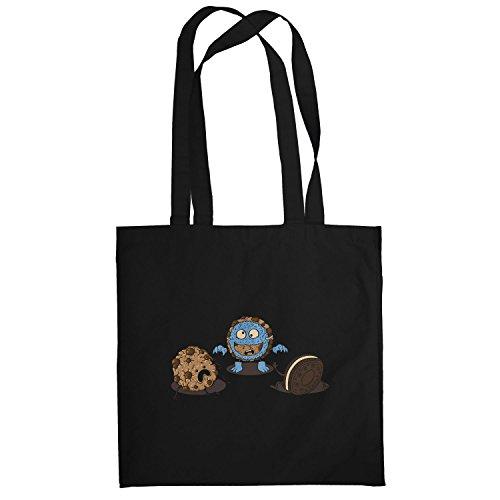 Texlab–Mostro Prank Cookie–sacchetto di stoffa Nero