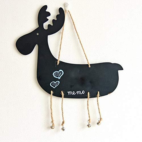 Tier hängend Kinder Tafel Doppelseitige Tür Message Board Wanddekoration Props (schwarz) (Thanksgiving-kunsthandwerk Für Kinder)