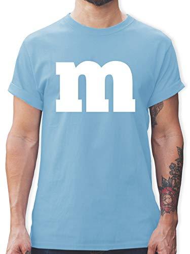 Eine Gruppe Kostüm - Karneval & Fasching - Gruppen-Kostüm m Aufdruck - XL - Hellblau - L190 - Herren T-Shirt und Männer Tshirt