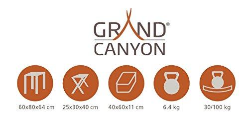 Grand Canyon Koffertisch Set, Campingtisch inkl. Hocker, klappbar, Aluminium, silber, stabiler Klapptisch für Camping, Festival, Picknick, für 2 oder 4 Personen