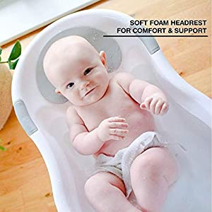 Nuby Baby Bath with Built in Seat and Soft Headrest