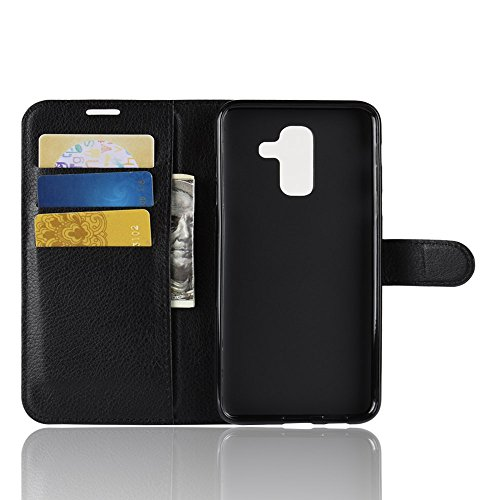 Funda   Capirotazo Billetera Samsung Galaxy J8 Plus  Negro