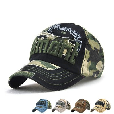 LAOWWO Baseball Cap Herren Cool Sport Outdoor Kappe Einstellbar Baumwolle Camo Army Cap - Armee Baseball Cap Hut