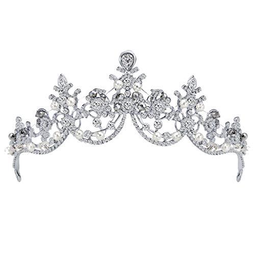 ZYUEER Luxuriöse Und Elegante Krone, Gefüllt Mit HalbmondföRmigem Kopfschmuck Für Damen