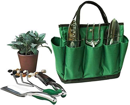 Cn-culture Outil de jardinage Sac de rangement, Sac Outil de jardin avec plante de jardin avec 8 poches, Ensemble d'outils, outils de jardinage Organiseur Tote pelouse Yard Sac de transport