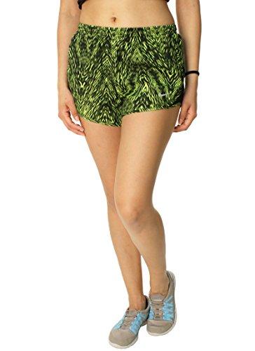 Nike Damen Printed Modern Tempo Dri Fit Stay Cool Laufen Shorts Small (Shorts Damen Tempo Grüne)