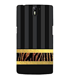 Fiobs Designer Back Case Cover for OnePlus One :: OnePlus 1 :: One Plus One (Yellow Golden Band )