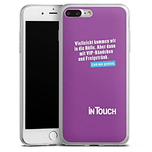 Apple iPhone X Slim Case Silikon Hülle Schutzhülle Hölle VIP Sprüche Silikon Slim Case transparent