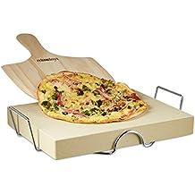 Relaxdays 10020490 Set per Pizza, Pietra in