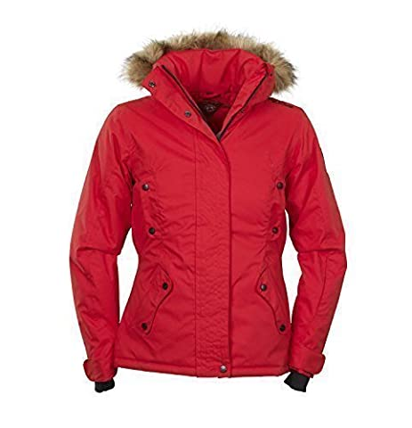 Damen Winter-Jacke   Kurz-Wintermantel mit abtrennbarer Fell-Kapuze von Fifty Five - Fernie red 44 - windddichte und wasserdichte