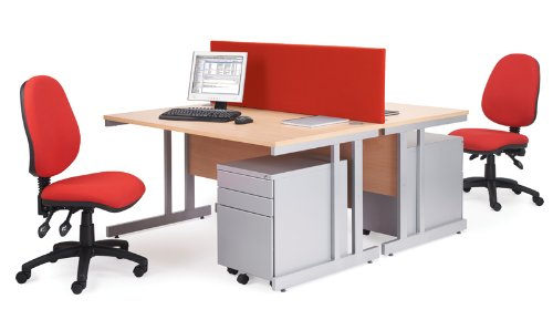 For Sale 1600mm Cantilever Straight Desk – Length: 800 MM; Width: 1600 MM; Height: 725 MM; Color: Beech Discount