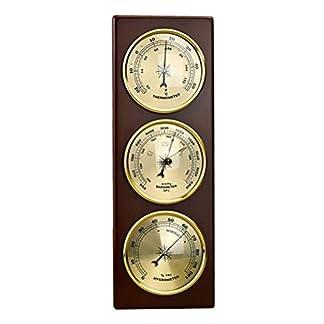 BAIYI Barómetro Termómetro De La Pared De La Estación Meteorológica Higrómetro Colgando Material Metálico para El Hogar/Oficina