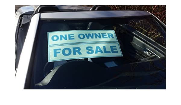 20 Self Cling Reusable Car Sales Sign Advertising Window Display Sale Stickers
