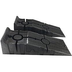 Trad4U Heavy Duty Plastique Rampes de Levage Garage Atelier de Voiture Rampes de Service 1Paire