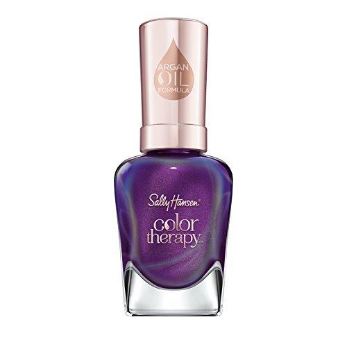 Sally Hansen Color Therapy Nagellack, Farbe 402 Plum Euphoria, schimmernden lila, 14.7 ml -