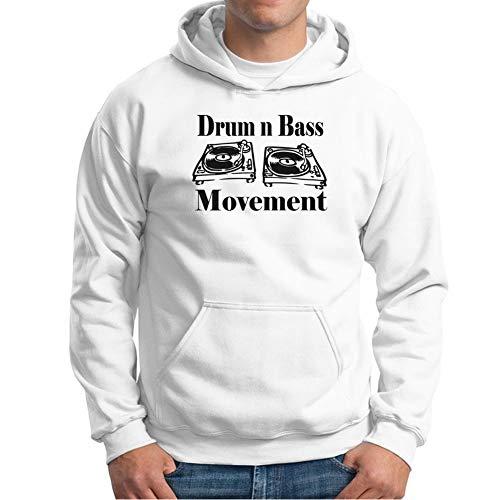Visual Basics Drum N Bass Movement Turntables Kapuzenpullover/Hoodie - Weiß - Medium