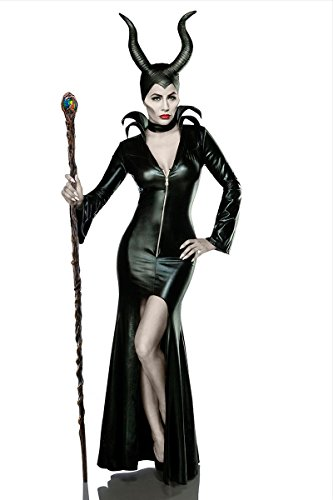 Halloween Kostüm `Misstress of Evil` by MASK PARADISE Fasching Karneval A80014, Größe:36;Farbe:schwarz