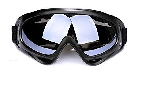 Lcxligang Radfahren Brille Sand-Schutzbrille, Mode Brille schwarzer Rahmen Bunte Linse (Color : B)