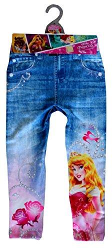 Aurora Disney Princess Offizielle Denim-Look Leggings in Blau für Kleinkinder und Mädchen (4-5 Jahre)