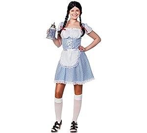 Fyasa 706366-t04-Disfraz de chica de Baviera, azul, grande